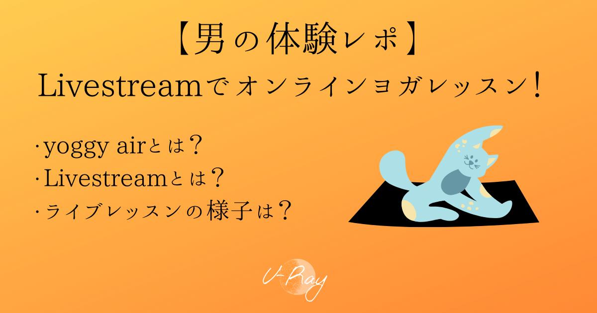 【男の体験レポ】yoggy airのLivestreamでオンラインヨガレッスン!【スタジオ・ヨギー】